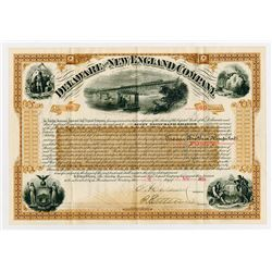 Delaware and New England Co., 1889 Stock Certificate