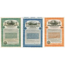 Indiana Harbor Belt Railway 1916-1924 Specimen Bond Trio