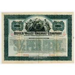 Boyer Valley Railway Co., 1898 Specimen Bond