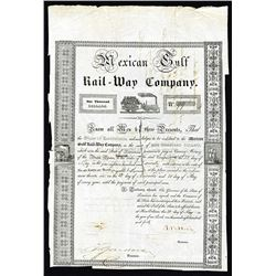 Mexican Gulf Rail-Way Co. 1840 I/C Bond.