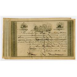 Baltimore & Ohio Railroad Co. 1851  Stock Certificate Grouping