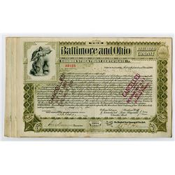 Baltimore & Ohio Railroad Co. ca.1900 Common Stock Trust Certificates Grouping