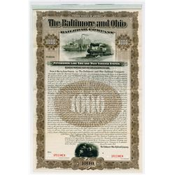 Baltimore and Ohio Railroad Co., Pittsburgh, Lake Erie and West Virginia System, 1901 Specimen Bond