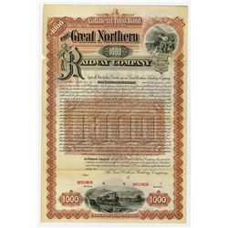 Great Northern Railway Co., 1892 Specimen Bond