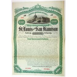 St. Louis and San Francisco Railroad Co., 1881 Specimen Bond