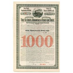 St. Louis, Arkansas & Texas Car Trust, 1886 Specimen Bond