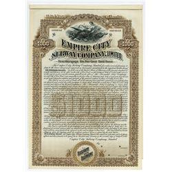 Empire City Subway Co., Ltd., 1892, Specimen Bond.