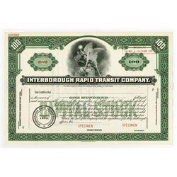 Interborough Rapid Transit Co., ca.1940-1950 Specimen Stock Certificate