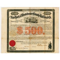 New York and Westchester County RR Co., 1865 Bond.
