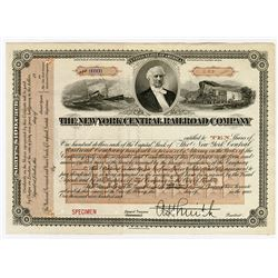 New York Central Railroad Co., ca.1890-1910 Specimen Stock Certificate