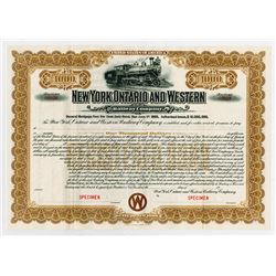 New York, Ontario and Western Railway Co., ca.1900 Specimen Bond