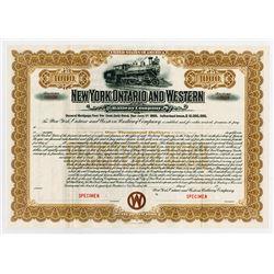 New York, Ontario and Western Railway Co., ca.1900 Specimen Bond