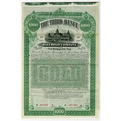 Third Avenue Railroad Co., 1887 Specimen Bond
