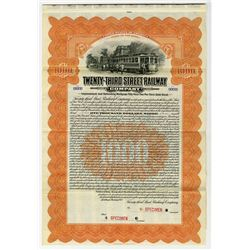 Twenty-Third Street Railway Co., 1912 Specimen Bond