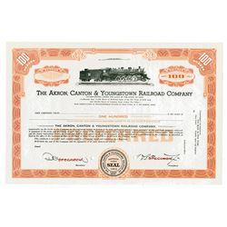 Akron, Canton & Youngstown Railroad Co., ca.1940-1950 Specimen Stock Certificate
