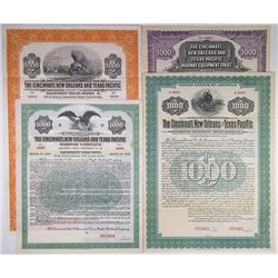 Quintet of Cincinnati, New Orleans and Texas Pacific Specimen Bonds, 1918-1937