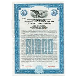 Wheeling and Lake Erie Railways Equipment Trust, 1947 Specimen Stock Certificate