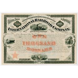 International Railroad Co., 1871 Unissued Bond