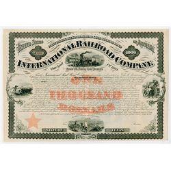 International Railroad Co., 1871 Unissued Bond