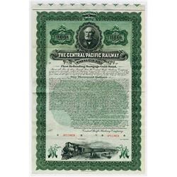 Central Pacific Railway Co., 1899 Specimen Bond