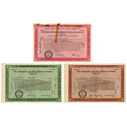 Chesapeake & Ohio Railway Co. 1960-63 Share Certificate Grouping