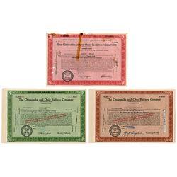 Chesapeake & Ohio Railway Co. 1960-63 Share Certificate Grouping