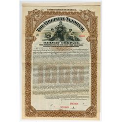 Virginian Terminal Railway Co., 1907 Specimen Bond