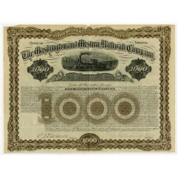 Washington and Western Railroad Co., 1882 Issued Bond