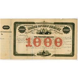 State of New Jersey, ND (1860-70's) Specimen Registered Bond Rarity.