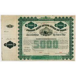 Funded Debt of the State of Ohio, 1881 Specimen Bond