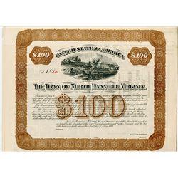 Town of North Danville, Virginia, 1884 Unissued Bond