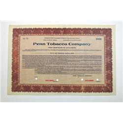 Penn Tobacco Co. 1928.