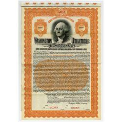 Washington Utilities Co., 1912 Specimen Bond