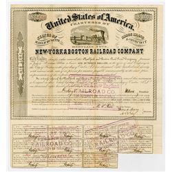 New York (New-York) & Boston Railroad (Rail Road) Co. 1860. I/U Bond.