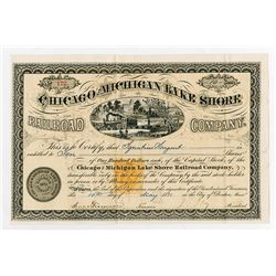 Chicago & Michigan Lake Shore Railroad Co. 1871  I/U Stock Certificate With IR RN-T4.