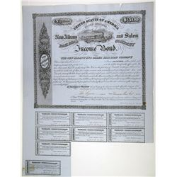 New Albany and Salem Rail Road Bond, 1855 I/U Bond