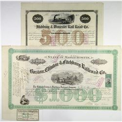 North East I/C Railroad Bond Duo, 1869-1872