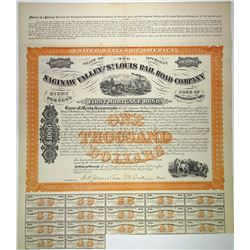 Saginaw Valley and St. Louis Rail Road Co., 1872 I/U Bond