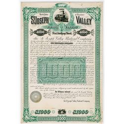 St. Joseph Valley Railroad Co., 1884 Proof Bond