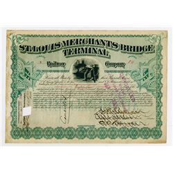 St. Louis Merchants Bridge Terminal Railway Co., 1890 I/C Serial #1 Stock Certificate