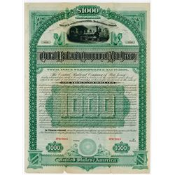 Central Railroad (Rail Road) Co of New Jersey. 1883. Specimen Bond.