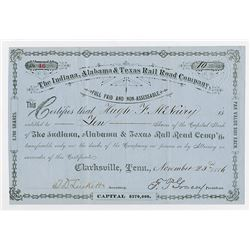 Hudson River Railroad Co. 186-. Partially Issued and signed by William H. Vanderbilt as Vice Preside