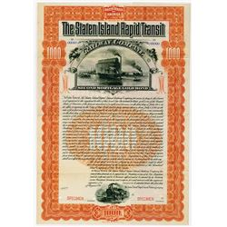 Staten Island Rapid Transit Railway Co., 1899 Specimen Bond