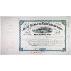 New York, West Shore and Buffalo Railway Co. 1881 Unique Approval Proof Bond.