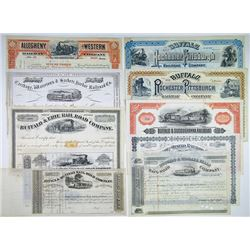 North East Railroad Group of 9 Stock Certificates, 1840s-1934