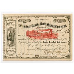 Bowling Green Rail Road Co., 1885 I/C Stock Certificate