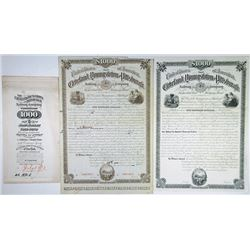 Cleveland, Youngstown and Pittsburgh Railway Co., 1882 Proof and Specimen Bond Used as Model.