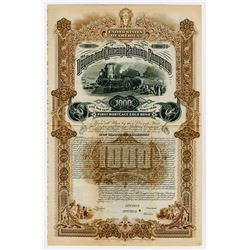 Dayton & Chicago Railway Co. 1886. Specimen Bond.