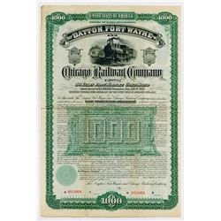 Dayton Fort Wayne & Chicago Railway Co. 1887. Specimen Bond.