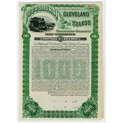 Pittsburgh Cleveland & Toledo Railroad Co. 1895. Proof Bond.